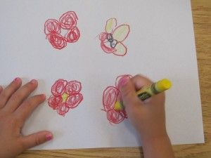 """Giving young children the opportunity to draw their own lines so they can think """"outside of the lines."""""""