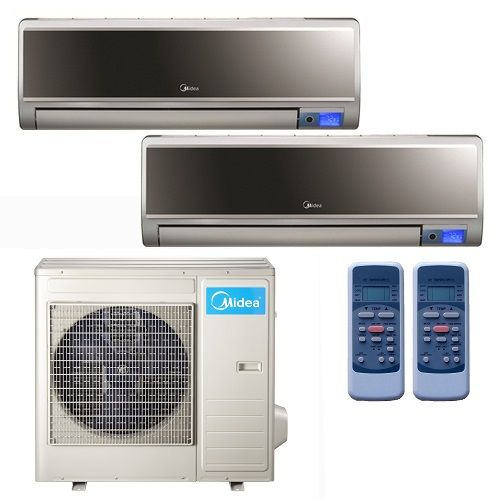 Mini Split Air Conditioner In Minisplitwarehouse Com Get A Midea 16 Seer 2x18000btu Vertu 2 Zone Mini Split He Heat Pump System Heat Pump Air Conditioner Units