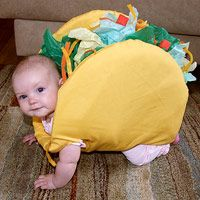 {Taco Baby}  Perfect for the crawling toddler.  : Baby Halloween Costume, Taco Costume, Halloween Costumes, Baby Taco, Baby Costume, Walking Taco, Halloweencostume, Taco Baby, Costume Idea