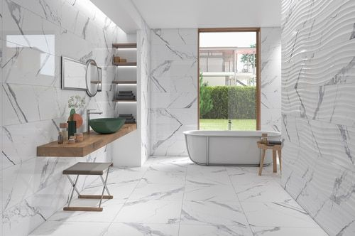 Marbellous 12 X 36 Statuario Porcelain Wall Tile Glossy Finish On Sale 5 97 Sq Ft In 2020 Wall Tiles Porcelain Wall Tile Wall