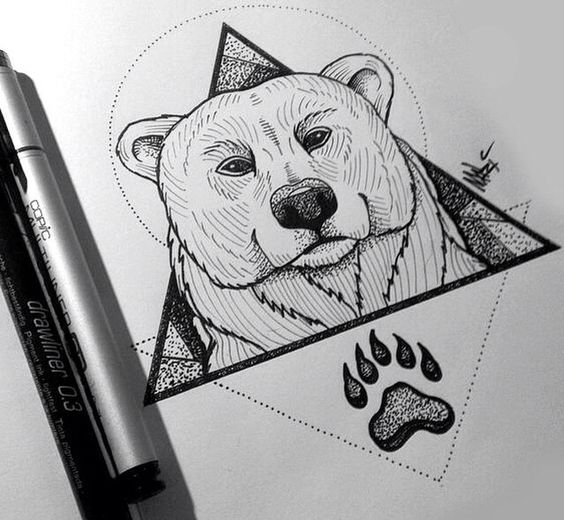 Cool geometric polar bear design