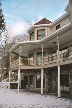 two story house on basement  | Custom Victorian Two-Story Home w/Walk-Out Basement