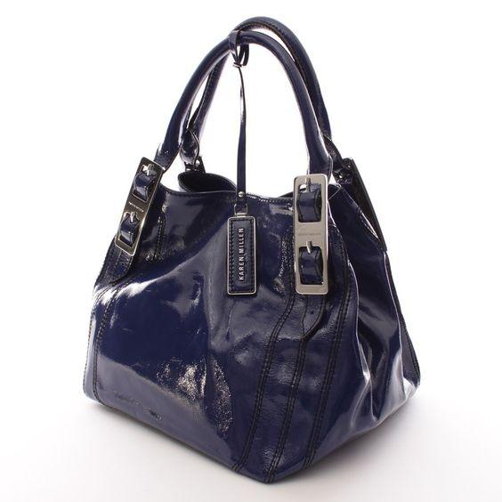 Stylische Handtasche von Karen Millen in Blau - feminin und extravagant