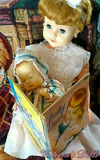 Baby dear doll & book Victoria Hawkins-Smiths collection