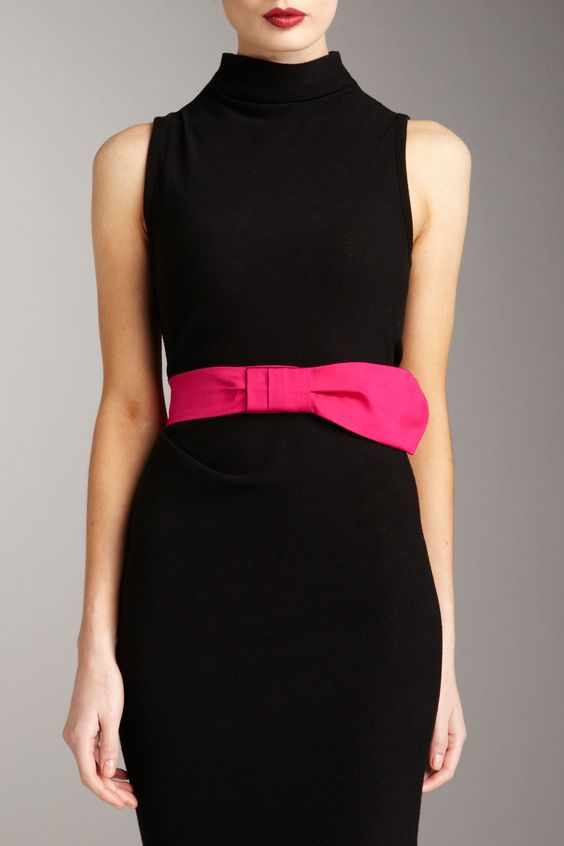 lbd..and a Valentino satin bow belt: