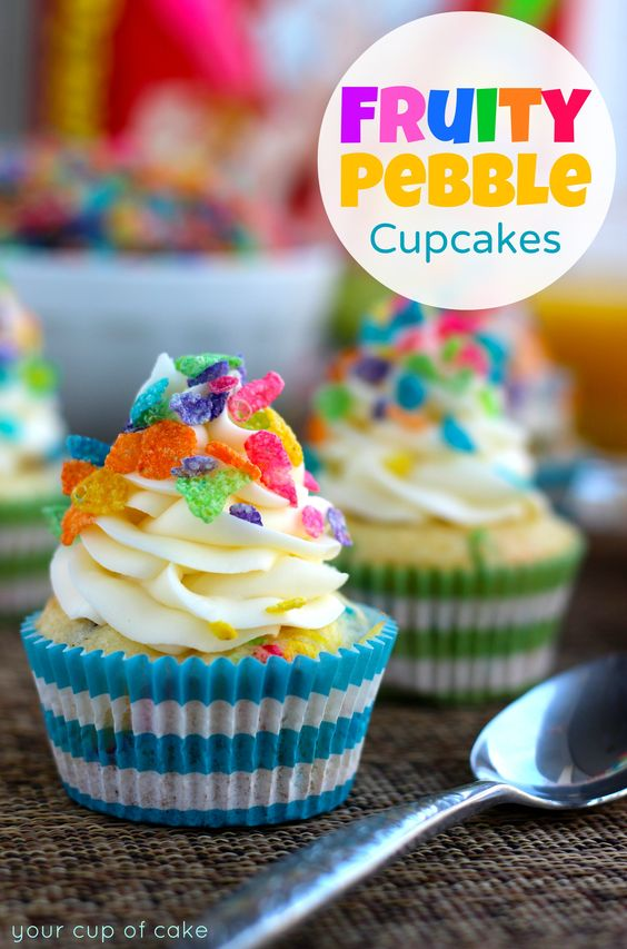 Fruity Pebble Cupcakes on FoodBlogs.com