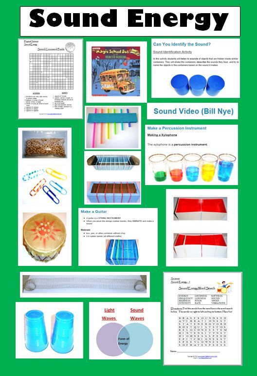 15 Fun Resources For Teaching About Sound Energy Learning Ideas