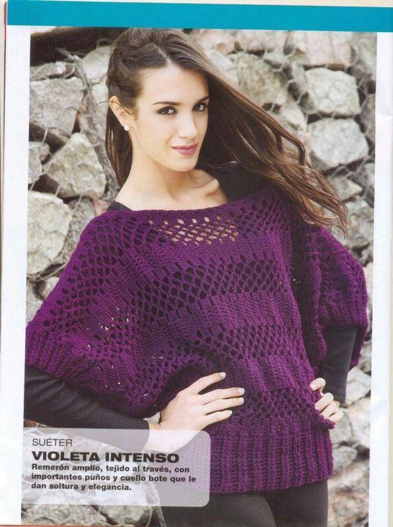 Blusa violeta, grupo de tejido