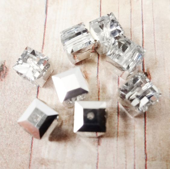 Swarovski crystal Bead crystal silver shade by StoneWingSupplies, $5.00