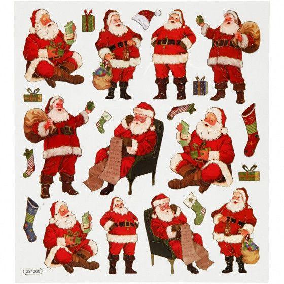 Stickervel Kerstman 16 5 X 15 Cm 22 Stuks Kerstman Stickers Schoolspullen