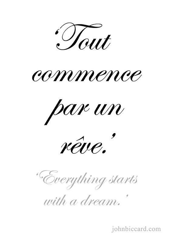 Tout Commence Par Un Reve : commence, WINTERBERRY, Citation, Paris,, Citations, Mots,, Paroles, Inspirantes