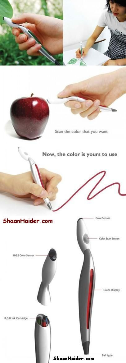 I used to have dreams about a magic paintbrush that could take the color from anything. And now it's real! O.O