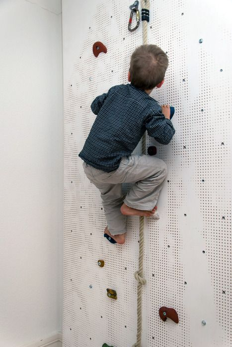 Fitz Roy Climbing Wall by Christoph Schindler:  A climbing wall with a hole pattern that replicates Patagonia's famous peak! #Climbing_Wall #Christoph_Schindler #mocoloco