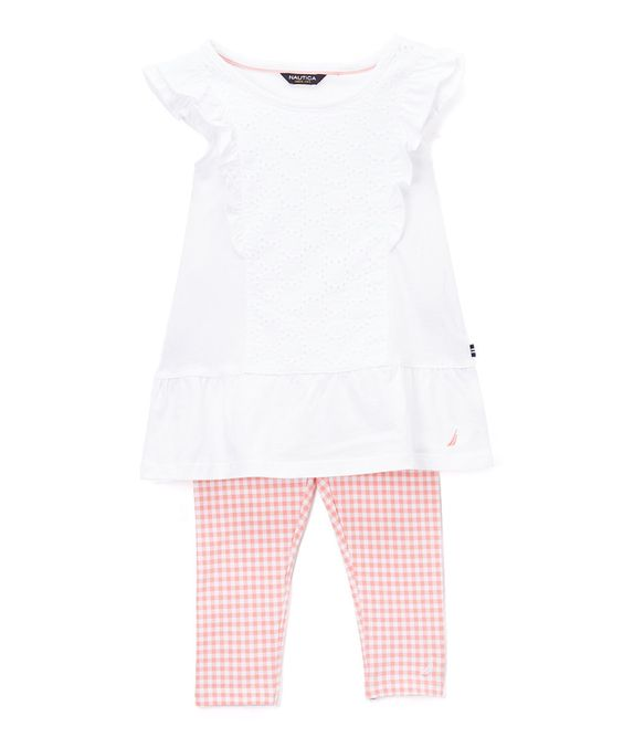 Sail White Eyelet Top & Leggings - Girls by Nautica #zulily #zulilyfinds