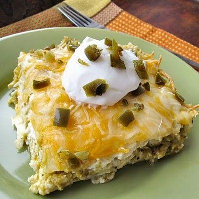 Easy Chicken Tortilla Bake with Verde...