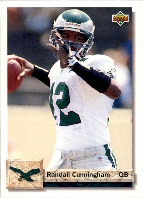 1992 Upper Deck #608 Randall Cunningham Philadelphia Eagles NFL Football Card #UpperDeck #PhiladelphiaEagles