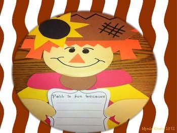FREE!  Fall Scarecrow Writing Craftivity (English & Spanish)