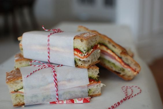 Brick Compressed Sandwich by simplysogood: Perfect for a picnic. #Sandwich #Picnic #simplysogood