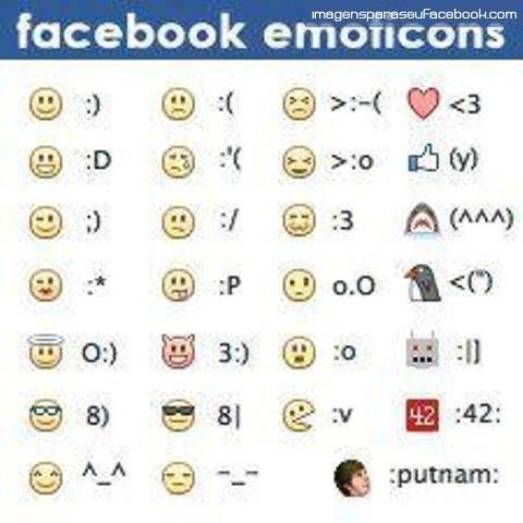 New Facebook Emotions – Emoticons for Facebook – Novos Smileys para Facebook 2013