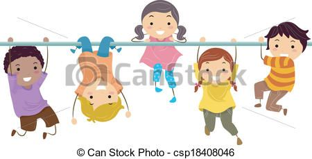 Vector - Monkey Bar - stock illustration, royalty free illustrations, stock clip art icon, stock clipart icons, logo, line art, EPS picture, pictures, graphic, graphics, drawing, drawings, vector image, artwork, EPS vector art