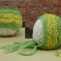"""Size: Newborn  Material: 100 % Wool  It's a """"Bonnie""""!  You can use it as Bonnet or as Beanie during your Newborn Sessions. It's an easy way to lower your expenses and achieve different styles without switching between different Photo Props.  Get a neutral color, but add a beautiful flower cl..."""