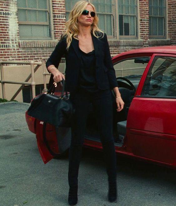 Bad Teacher, Cameron Diaz, Love this outfit, all black!