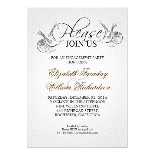 engagement party   elegant engagement party invitation