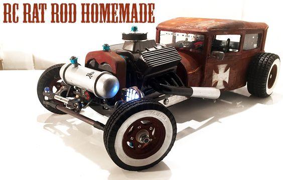 Rc Car Rat Rod Rwd Homemade 1 10 Part 4 5 Radiator Paint Pipes