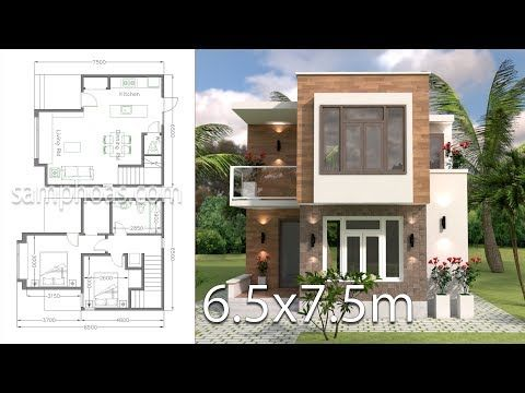 The House Has Car Parking Small Garden Living Room Dining Room Kitchen Has Door Access To Backya Small House Design Home Design Plans Modern House Plans Small house plan with car parking