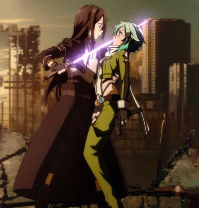 sword art online SAO SAO 2 Kirito sinon Shino Asada stitch