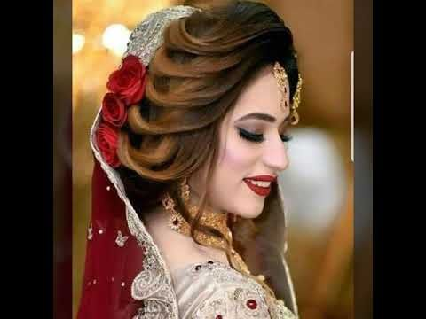 Kashee S Brides Makeup Hairstyle Kashee S Bridal Makeup Kashee S Bridal Dre In 2020 Pakistani Bridal Hairstyles Pakistani Bridal Makeup Hairstyles Vintage Bridal Hair