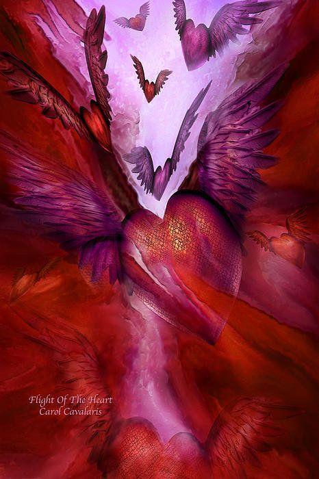 Flight Of The Heart Print By Carol Cavalaris