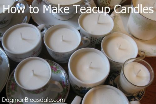 How to Make a Shabby Chic Candle in a Teacup