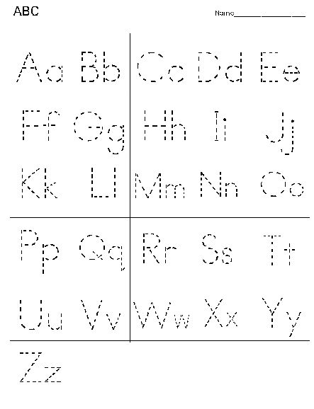 Free Printable Dotted Letters | Alphabet Practice Worksheet ...