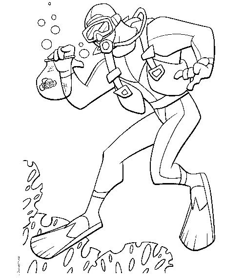 The Perfect Coloring Page For Every Child That Loves Scuba Diving Scuba Diving Coloring Page Pr Finding Nemo Coloring Pages Nemo Coloring Pages Coloring Pages