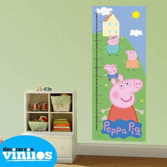 medidor infantil de peppa pig decoraci n de habitaciones
