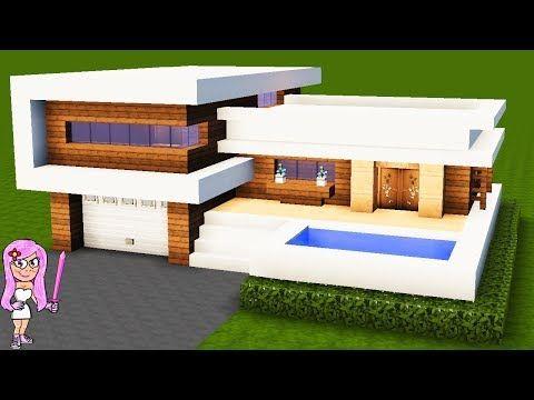 Casa Moderna 10 En Minecraft Como Hacer Y Decorar Tutorial