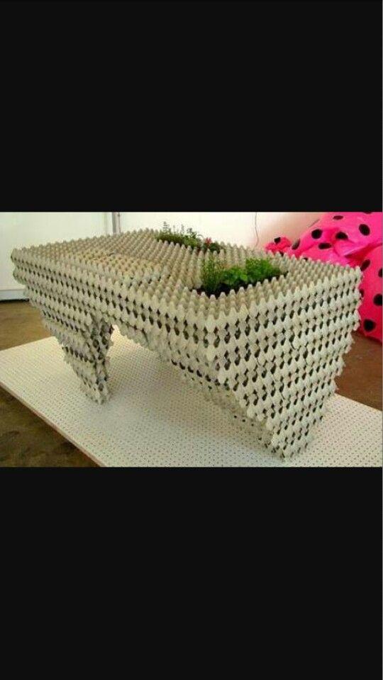 Arte com caixa de ovos