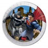 Batman V Superman Paper Party Plates