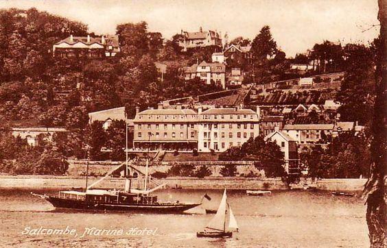 Marine Hotel, Salcombe. #postcards