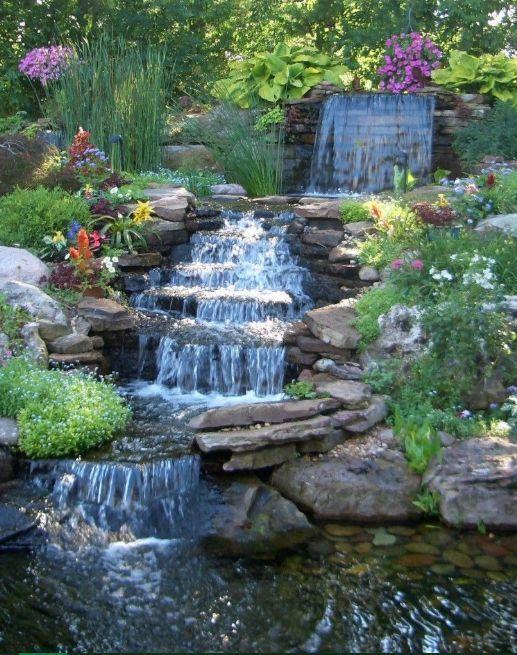 Beautiful Backyard Pond Ideas Diy, Garden Waterfall Pond