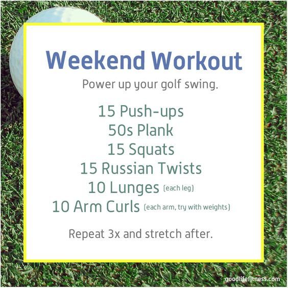 Weekend Workout for the seasoned or newbie golfer. Perfect for this summer season. #golf