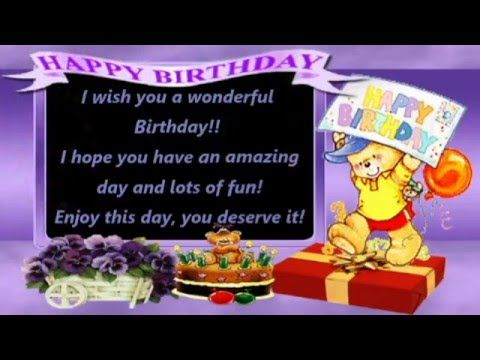 Happy Birthday Wishes Blessings Prayers Messages Quotes Music E Card Whatsapp Video Youtube Happy Birthday Music Happy Birthday Song Happy Birthday Wishes