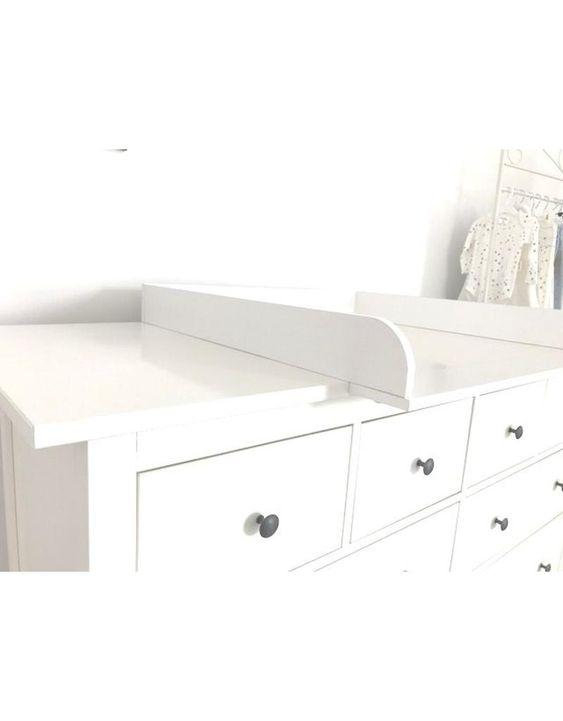 Puckdaddy Baby Wickelaufsatz XXL-Extrabreit für IKEA Hemnes in weiß