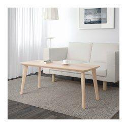 IKEA - LISABO, Table basse, , Le plateau de table en plaqué frêne et les pieds en bouleau massif apportent une touche chaleureuse et naturelle à votre pièce.Facile à monter, chaque pied disposant d'une fixation unique.Le frêne est un matériau naturellement résistant. La surface a été rendue encore plus résistante grâce à une couche protectrice de vernis, qui conserve aussi au bois son aspect naturel.Chaque table est différente du fait de son grain particulier qui la rend unique.