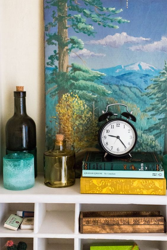 Yard stick tray; Katie Hart's San Diego Home Tour | The Everygirl