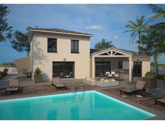 modle diamant maison moderne tage de 125m2 avec piscine 2 chambres 1 - Maison Moderne Contact