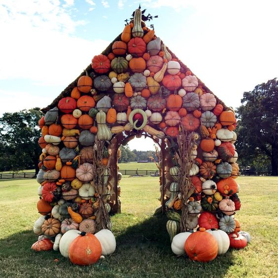 Heather Lane (@heatherbuglane) • P. Allen Smith's pumpkin house! Love it!