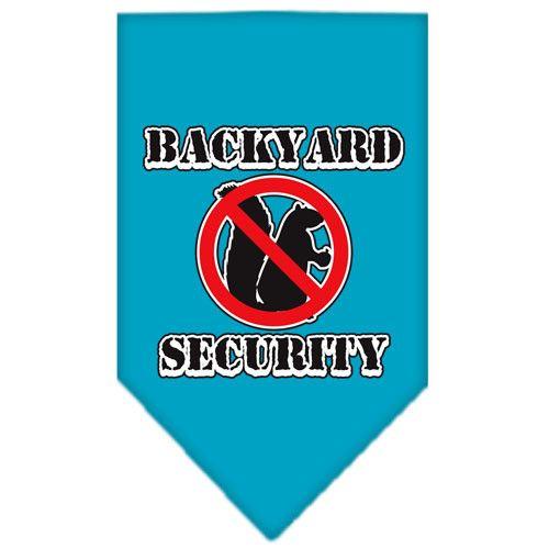 Backyard Security Screen Print Bandana Turquoise Small