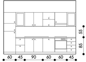 Configurazione Cucina Con Moduli Standard Design Della Dispensa Cucina Misure Cucina Cucine